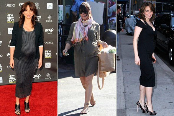 pregnant celebs fashion