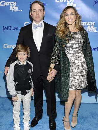 mathew broderick, sarah jessica parker and james wilke broderick