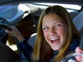 She may look innocent, but watch out -- teen drivers are to be feared!