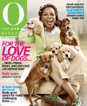 The Oprah Magazine cover picture