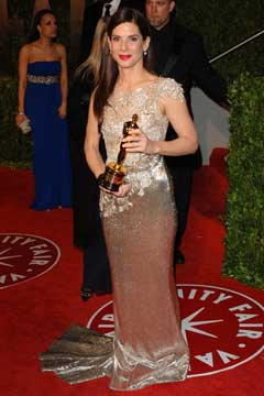 sandra bullock with oscar picture
