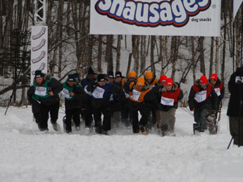 Snausages Man Sled Race picture