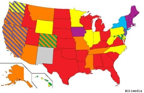 While 12 percent of states have legalized same-sex marriage, several more ...