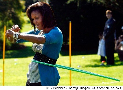 is michelle obama fat. Michelle Obama, Hula-Hoop Star