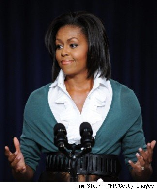 is michelle obama fat. First Lady Michelle Obama