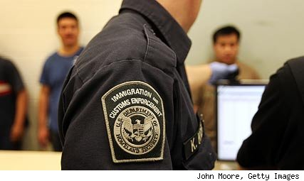 Immigration official processing Phoenix Arizona