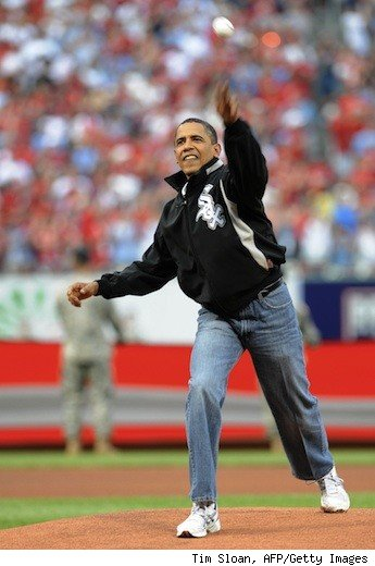 obama throws like a girl