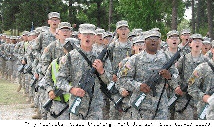 Army recruits, Fort Jackson, S.C.
