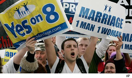 gay marriage opponents protest