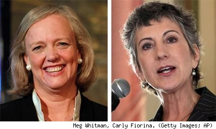 Meg Whitman, Carly Fiorina