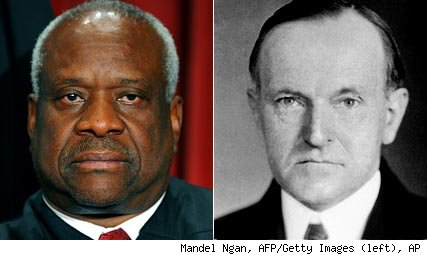 Clarence Thomas, Calvin Coolidge