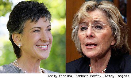 Carly Fiorina, Barbara Boxer.
