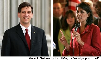 Vincent Sheheen, Nikki Haley