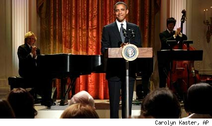 President Obama, Broadway Night