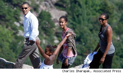 President Obama and family in Maine