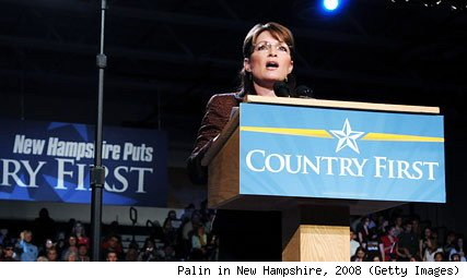 Sarah Palin campaigning in New Hampshire, 2008