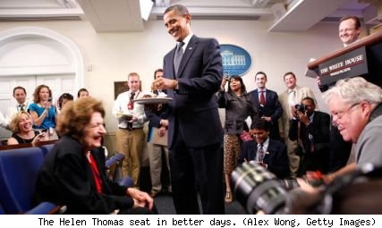 Helen Thomas, Barack Obama