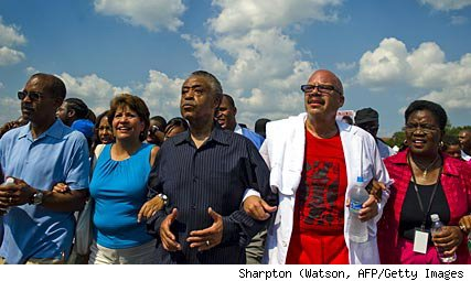 Al Sharpton leads rally in Washington
