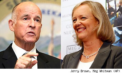 Jerry Brown, Meg Whitman