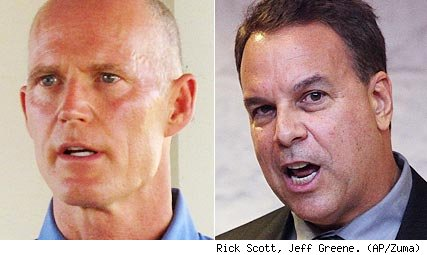 Rick Scott, Jeff Greene
