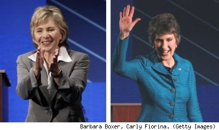 Barbara Boxer, Carly Fiorina