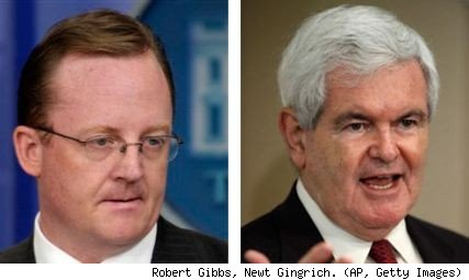 Robert Gibbs, Newt Gingrich