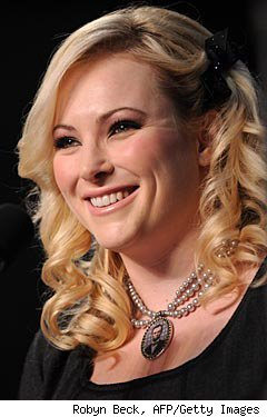 Meghan McCain at 2008 campaign rally, Otterbein College, Westerville, Ohio