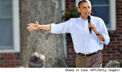 President Obama in Des Moines Iowa Wednesday