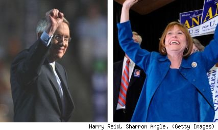 Harry Reid, Sharron Angle