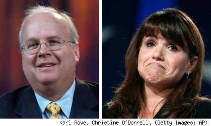 Karl Rove, Christine O'Donnell