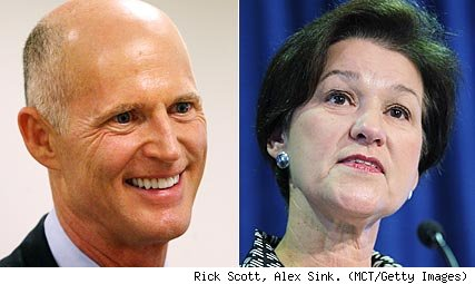 Rick Scott, Alex Sink