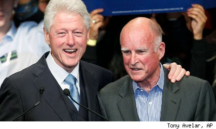 Bill Clinton, Jerry Brown