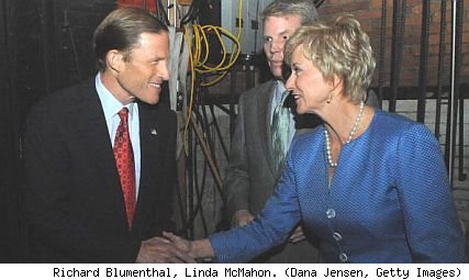 Richard Blumenthal and Linda McMahon