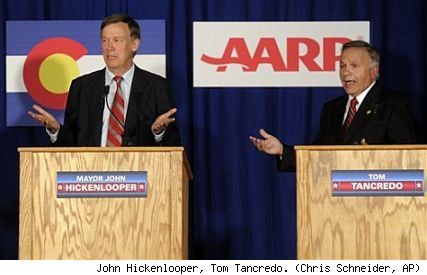 John Hickenlooper and Tom Tancredo