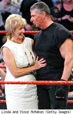 Connecticut Republican Senate candidate Linda McMahon with husband, Vince McMahon
