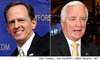 Pat Toomey and Tom Corbett