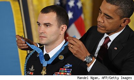 President Obama awards Medal of Honor to Army Sgt. Salvatore Giunta
