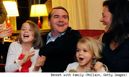 Sen. Michael Bennet (D-Colo.) with family on election night