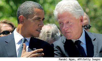 President Obama, former President Bill Clinton in July 2010