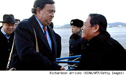 New Mexico Gov. Bill Richardson arrives in North Korea