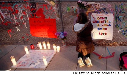 Christina Green memorial in Tucson
