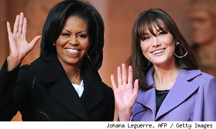 Michelle Obama, Carla Bruni-Sarkozy