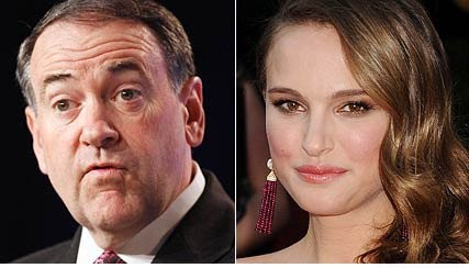 Mike Huckabee vs. Natalie Portman? on AOL Answers.