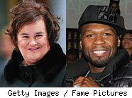 50 Cent and Susan Boyle