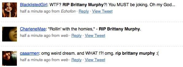Brittany Murphy Tweets