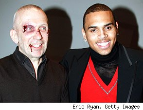 Chris Brown and John Paul Gaultier