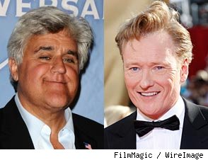 Jay Leno and Conan O'Brien