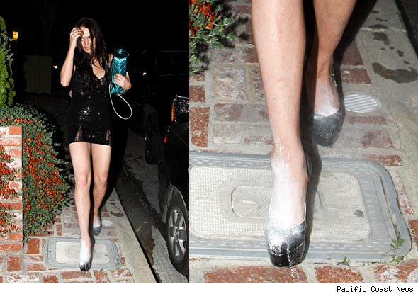 White Powder pumps out of Lindsay Lohan's shoes