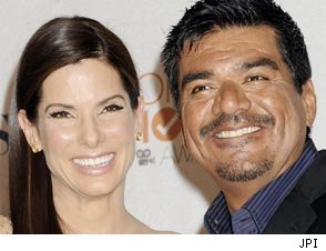 George Lopez and Sandra Bullock