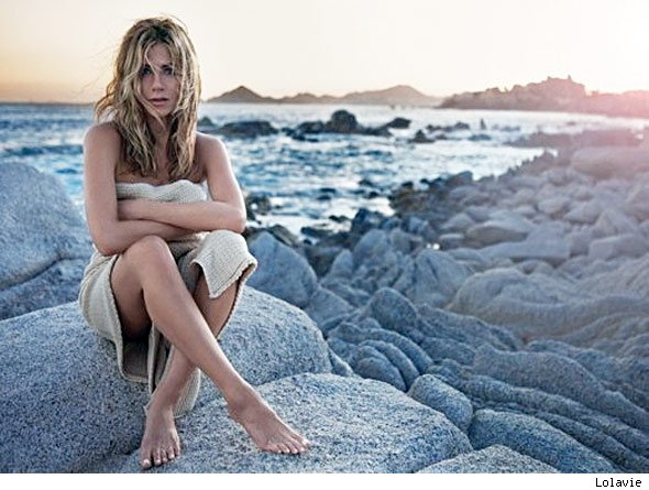 jennifer aniston next to nude in perfume ad popeater